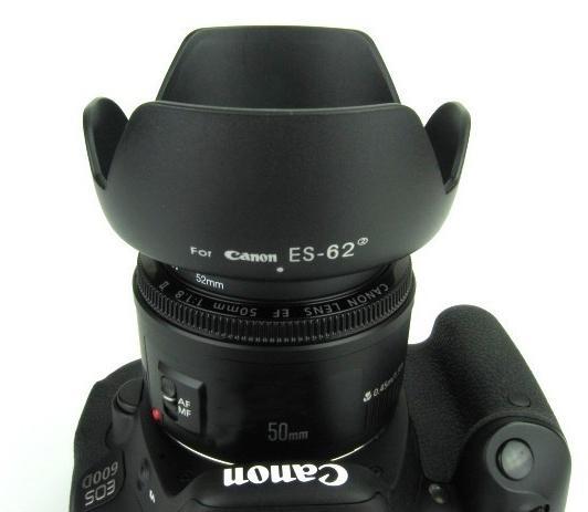 ES-62 ฮูดกลีบดอกไม้ สำหรับเลนส์Canon 50 mm f / 1.8