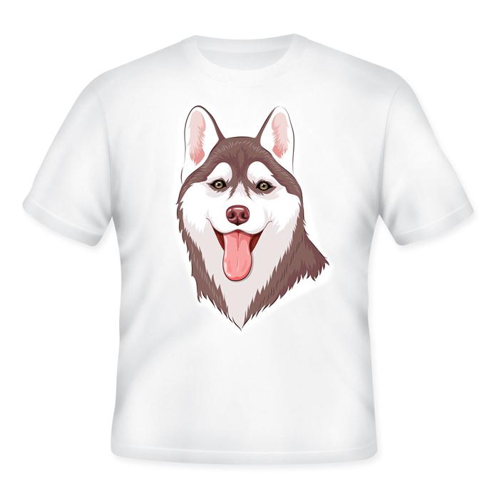 เสื้อยืดพิมพ์ลายไซบีเรียน ฮัสกี้ (Siberian Husky T-Shirt)