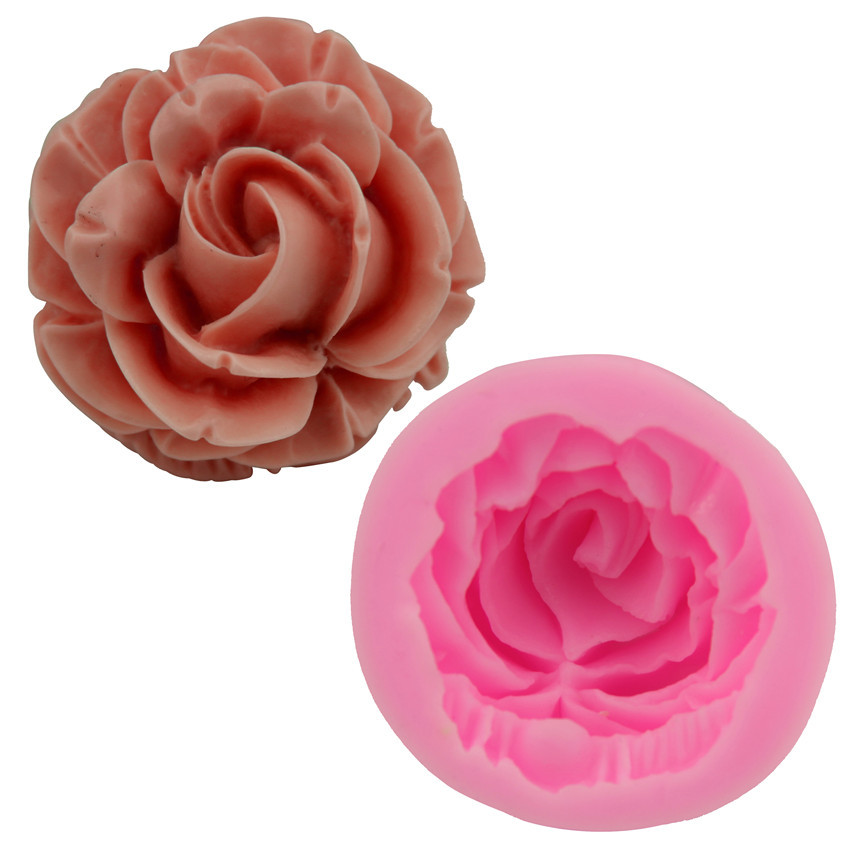 ซิลิโคนสำหรับทำฟองดองท์ กัมเพส รูปดอกกุหลาบ