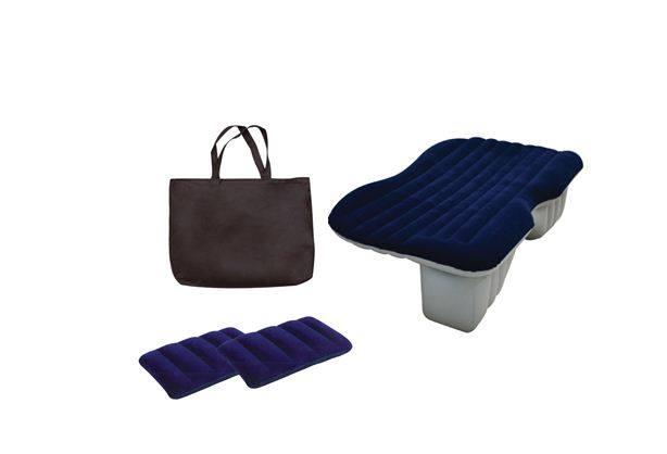 เบาะนอนเป่าลม สำหรับในรถสีน้ำเงิน+หมอน2ใบ+กระเป๋าสำหรับพกพา