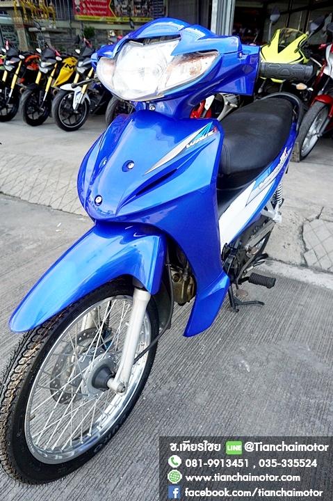#ดาวน์8000 WAVE110i ปี56 สตาร์ทมือ สีน้ำเงินสวย เครื่องดี พร้อมใช้งาน ราคา 24,000