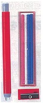 ดินสอกดสำหรับเขียนผ้า พร้อมไส้และกบเหลา