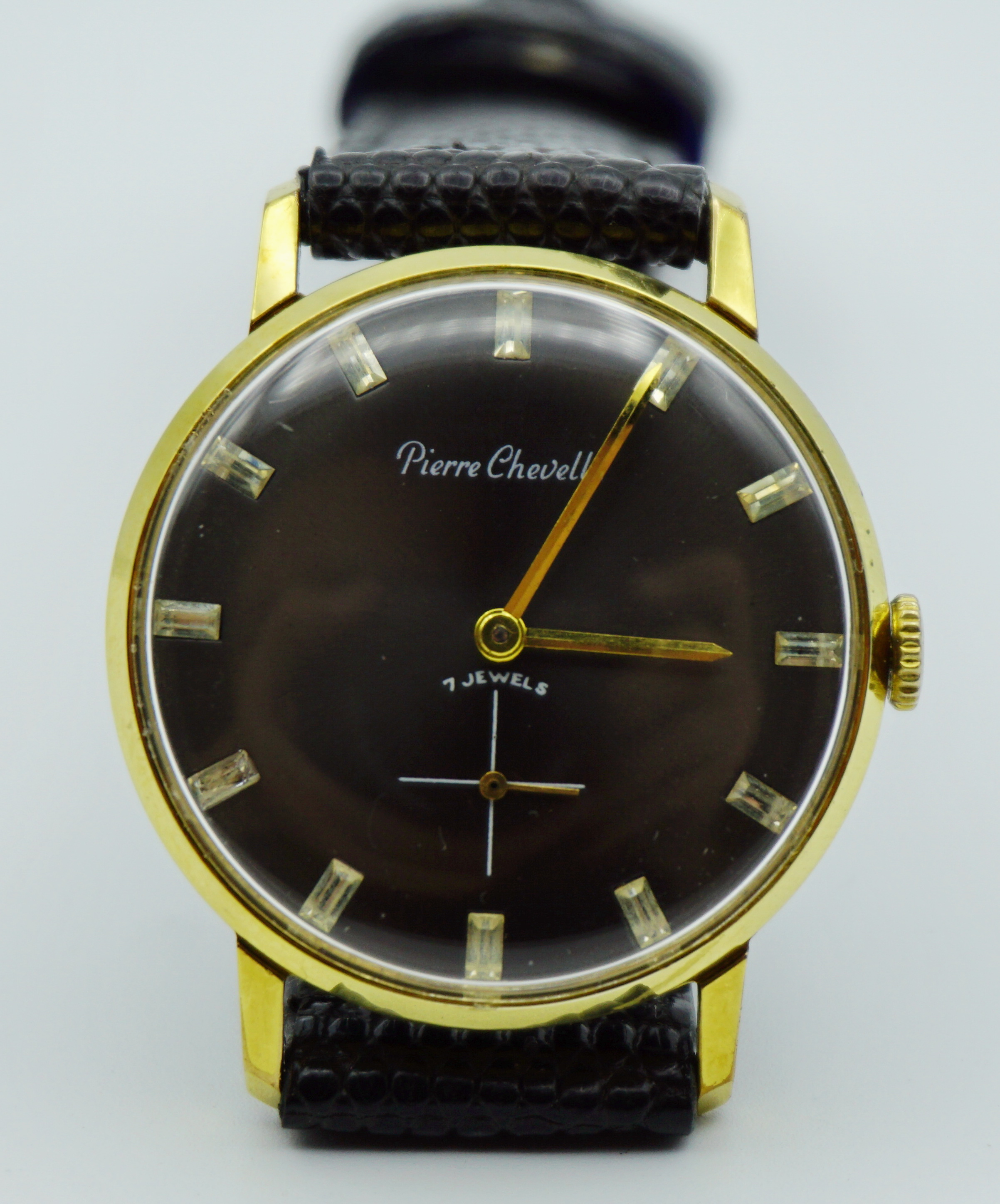 นาฬิกาเก่า PIERRE CHEVELLE ไขลานสองเข็มครึ่ง