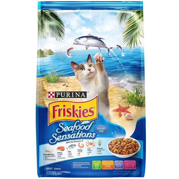 ฟริสกี้ส์ ซีฟู้ด เซนเซชั่น อาหารแมวรสปลาทะเล ขนาด 1.2 kg