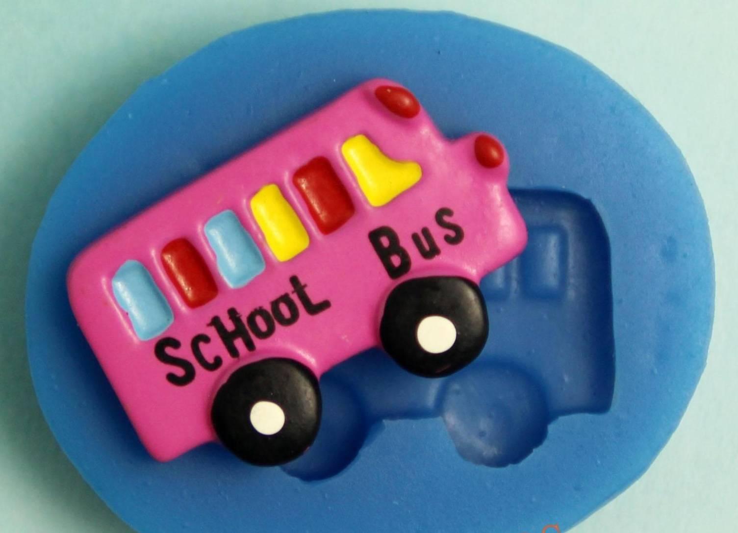 โมล พิมพ์ซิลิโคน รูปรถโรงเรียน (พิมพ์ 2 มิติ)