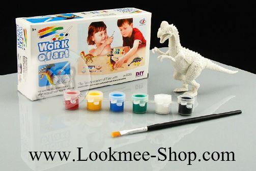 ชุดตัวต่อและระบายสีไดโนเสาร์