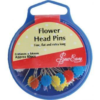 เข็มหมุดหัวแบบรูปดอกไม้