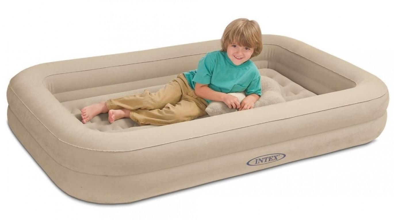 ส่งฟรี EMS ชุดที่นอนเป่าลมของเด็กพร้อมที่สูบลมปั๊บมือ Intex Kidz Travel Set with hand Pump