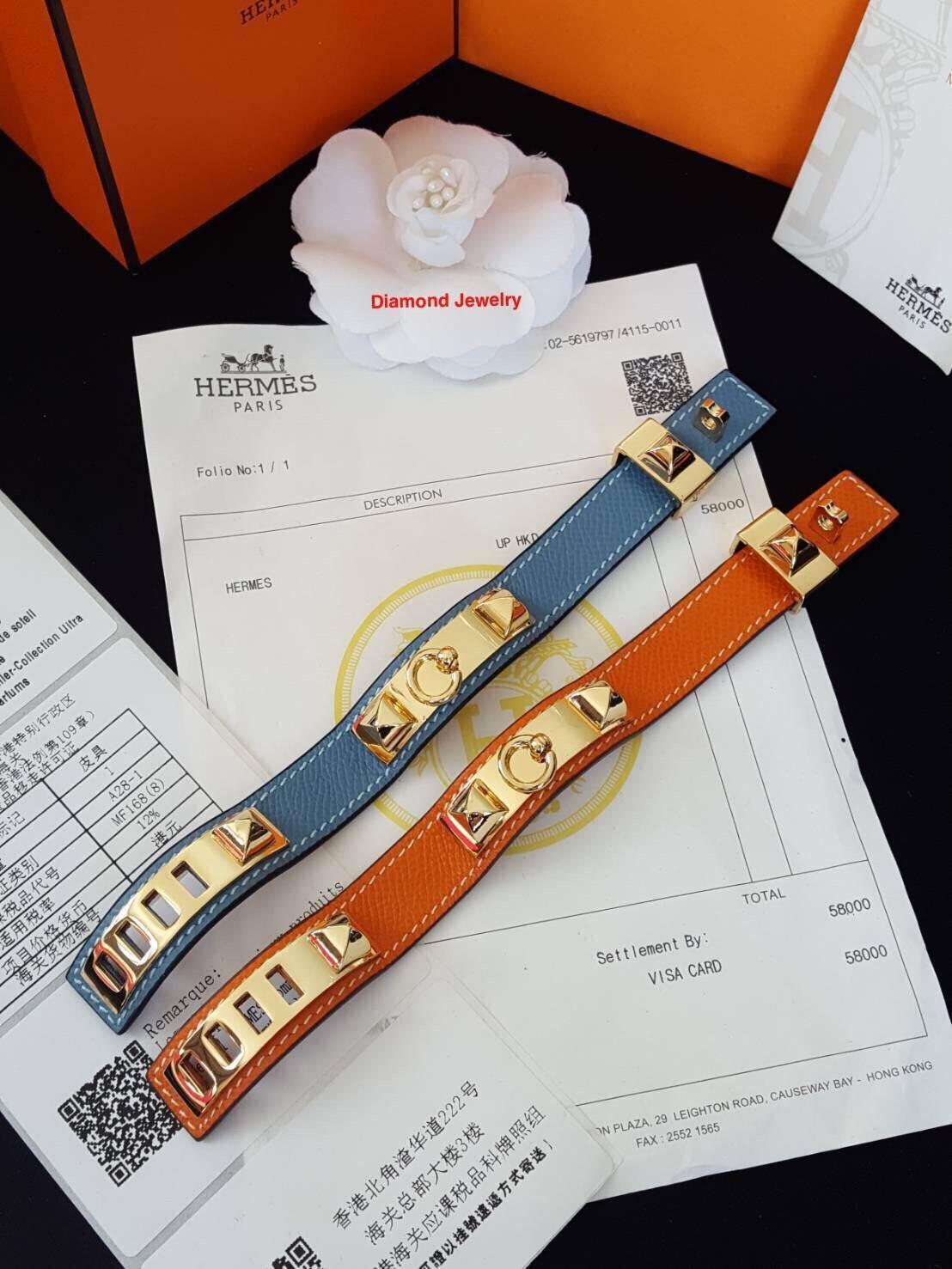 พร้อมส่ง Hermes Bracelet ลายหนังวัวแท้ 100%