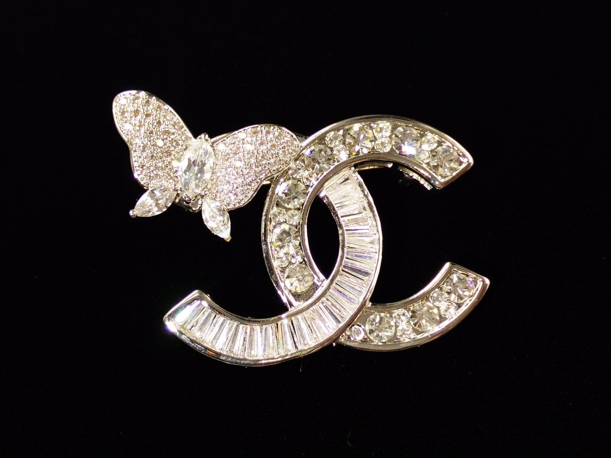 พร้อมส่ง Butterfly Brooch Chanel ผีเสื้อ งานเพชรCZแท้