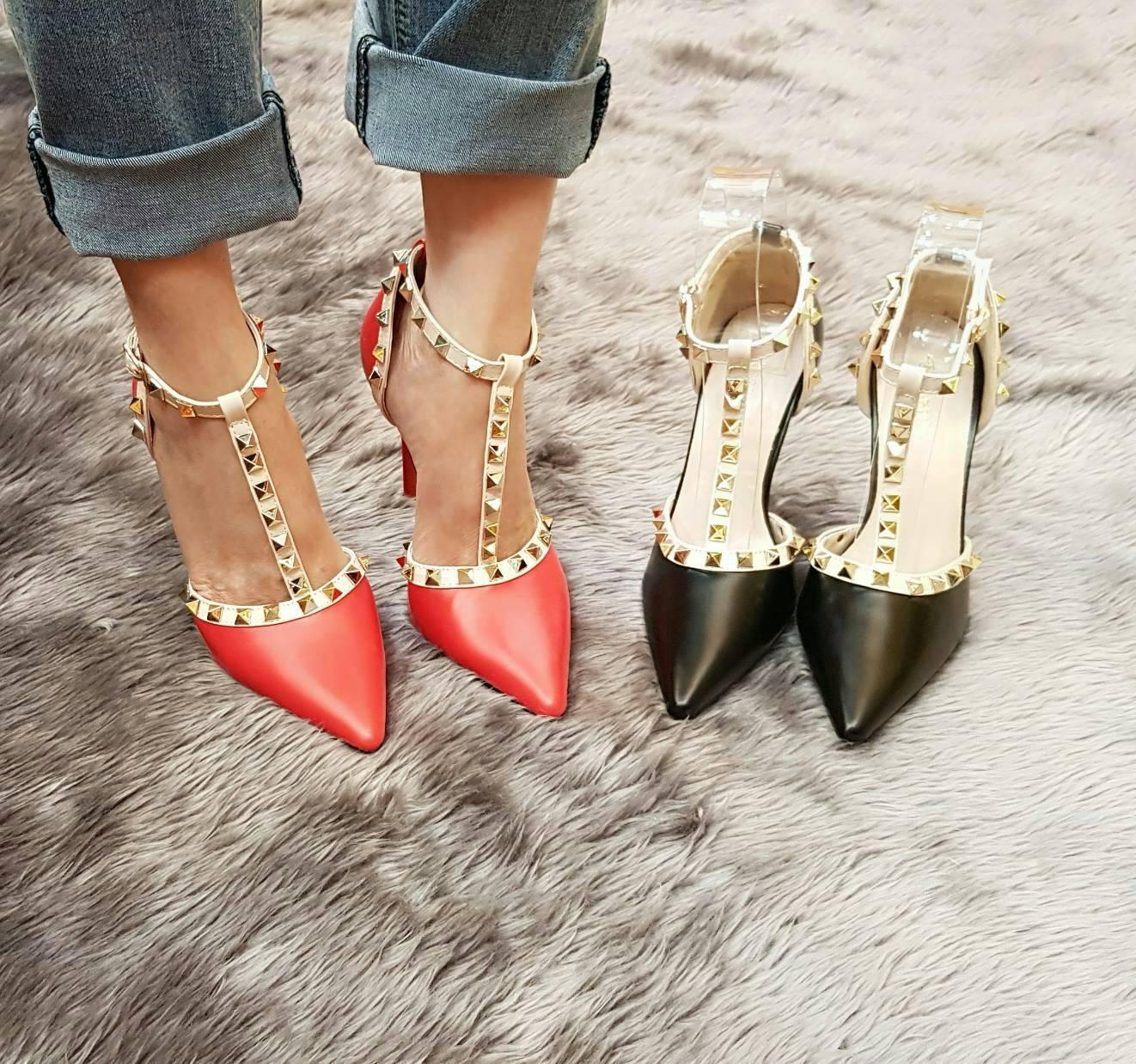 รองเท้า valentino ส้นเช็มแข็งแรง