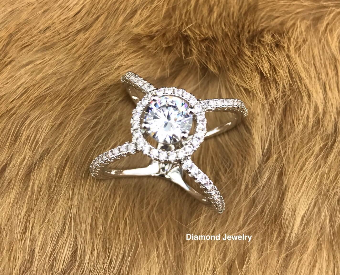 พร้อมส่ง Diamond Ring แหวนเพชร CZ แท้
