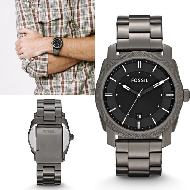พร้อมส่ง Fossil Machine stainless steel watch (FS4774)