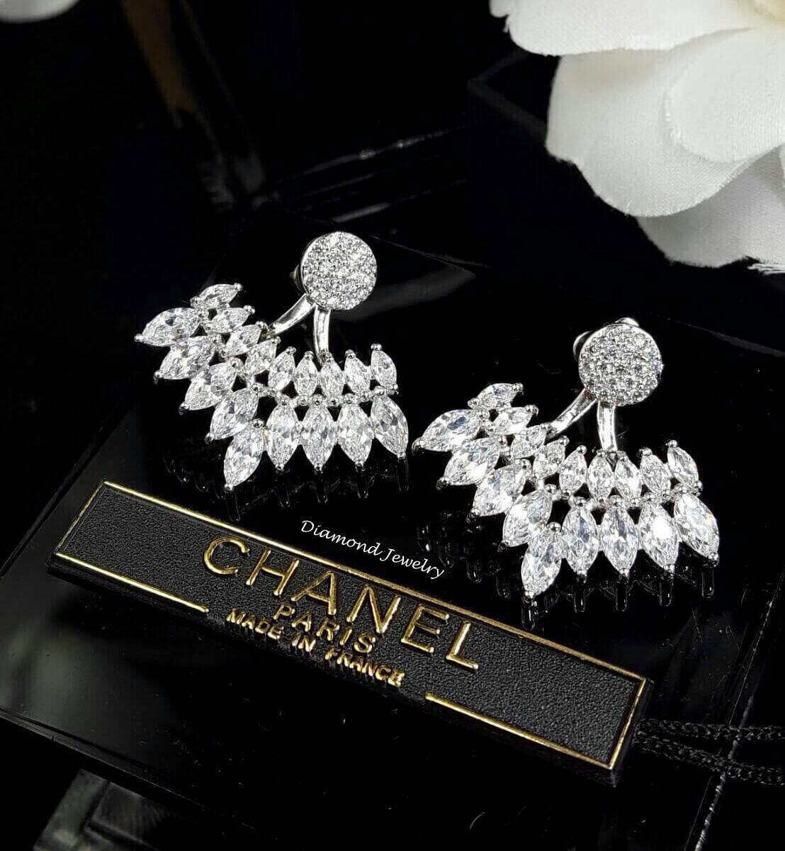 พร้อมส่ง Diamond Earring งานเพชร CZ แท