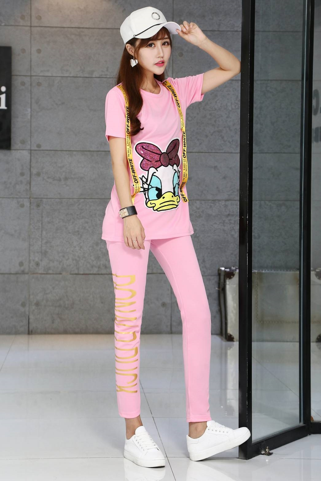 เสื้อผ้าเกาหลีพร้อมส่ง เซท มินิเดรส+กางเกงขาเดฟเข้าทรง