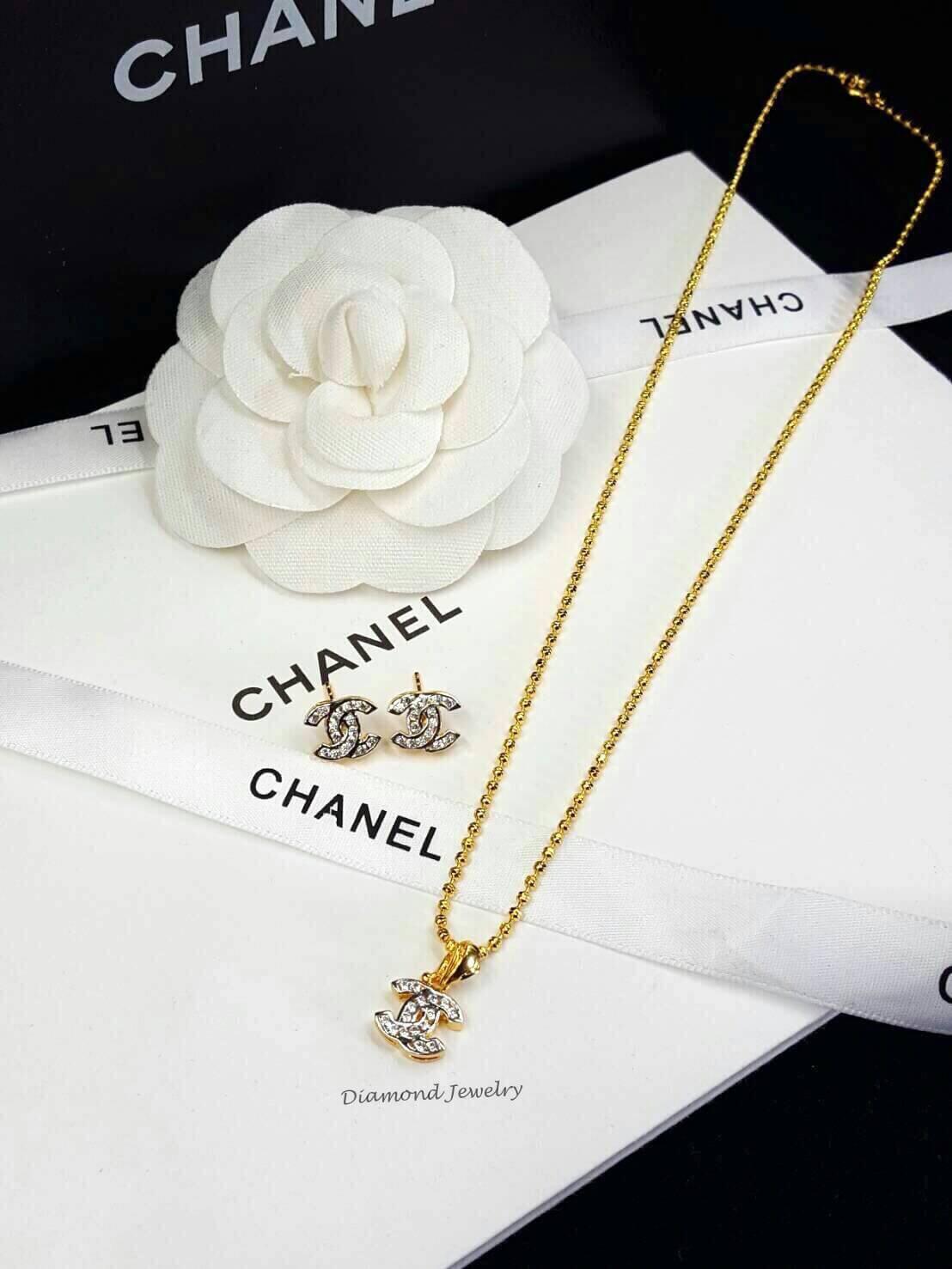 พร้อมส่ง ต่างหู & สร้อย & จี้ Chanel รุ่นมินิ