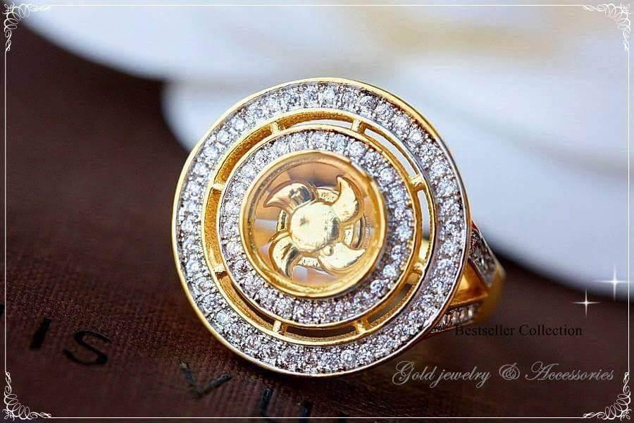 พร้อมส่ง แหวนกังหัน งานนำเข้าจากฮ่องกง กังหันหมุนได้100%
