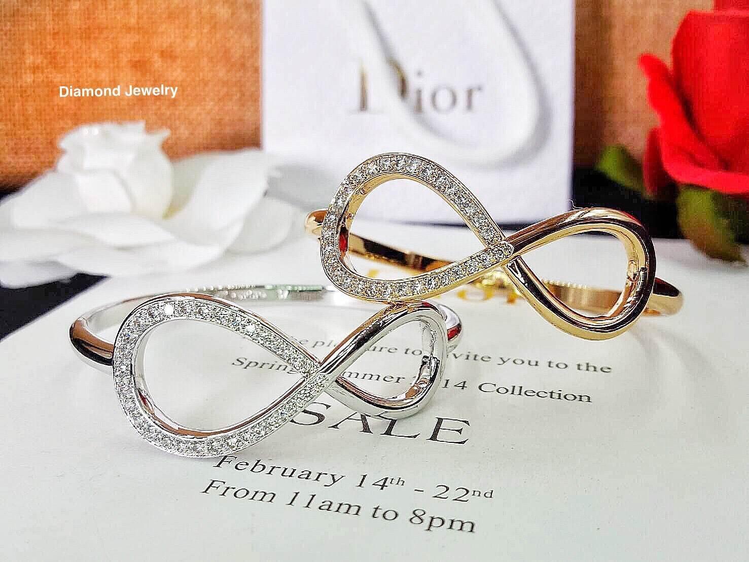 พร้อมส่ง Infinity Diamond Bangle กำไลงานสวยมากก