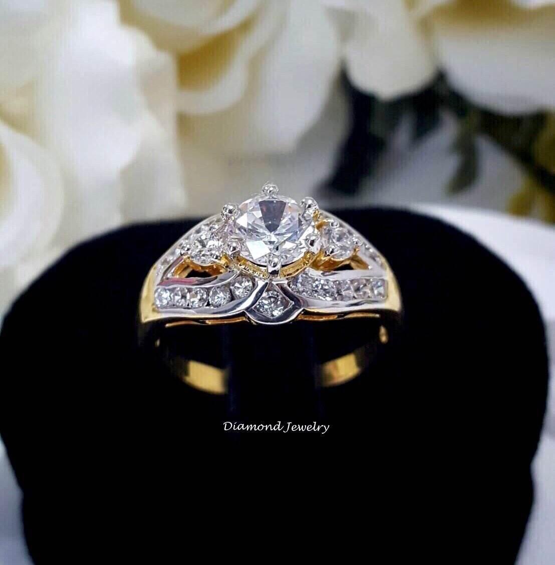 พร้อมส่ง Diamond Ring งานเพชรสวิส งานชุบ 5 ไมครอน