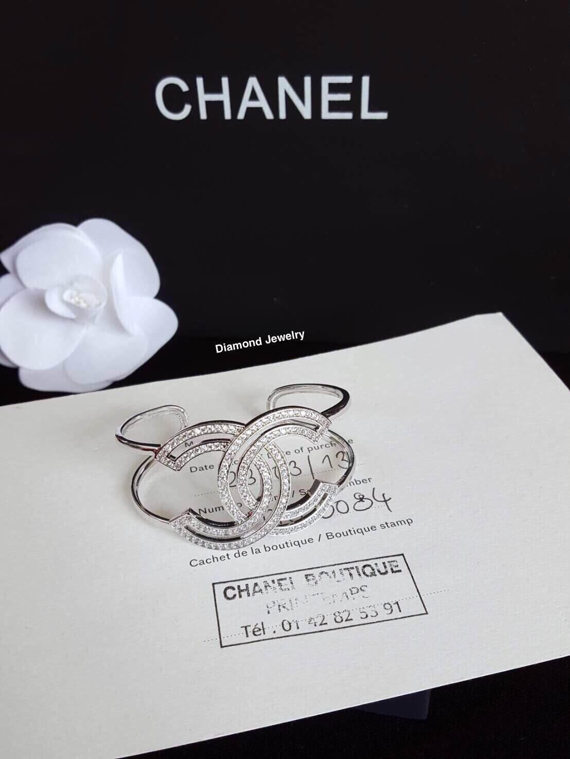 พร้อมส่ง Chanel Diamond Bangle กำไลข้อมือชาแนลงานเพชร CZ