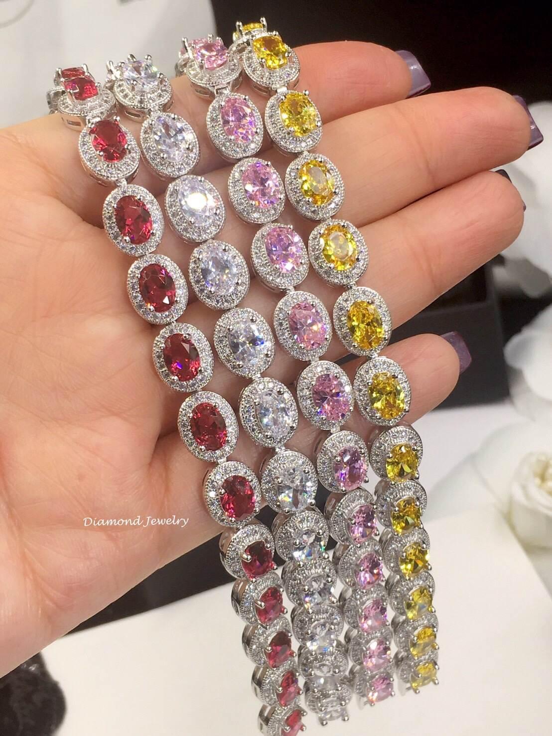 พร้อมส่ง Diamond Bracelet สร้อยข้อมือเพชรงานเกรดไฮเอน