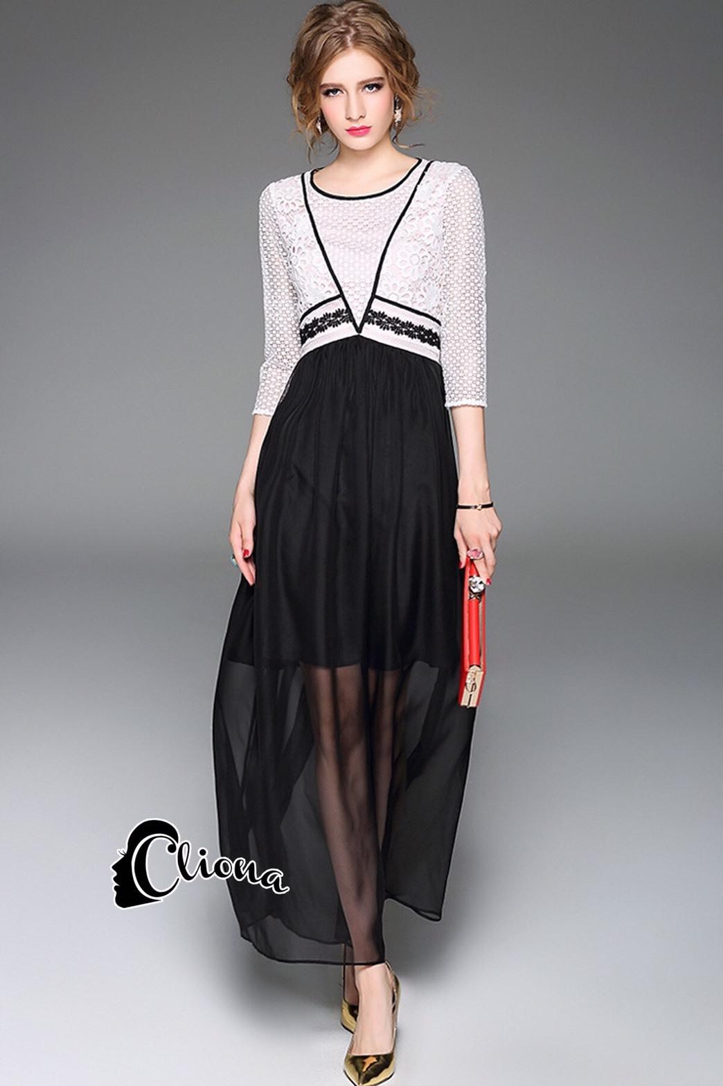 ชุดเดรสเกาหลี พร้อมส่งLong dress งานสวยอีกชุด