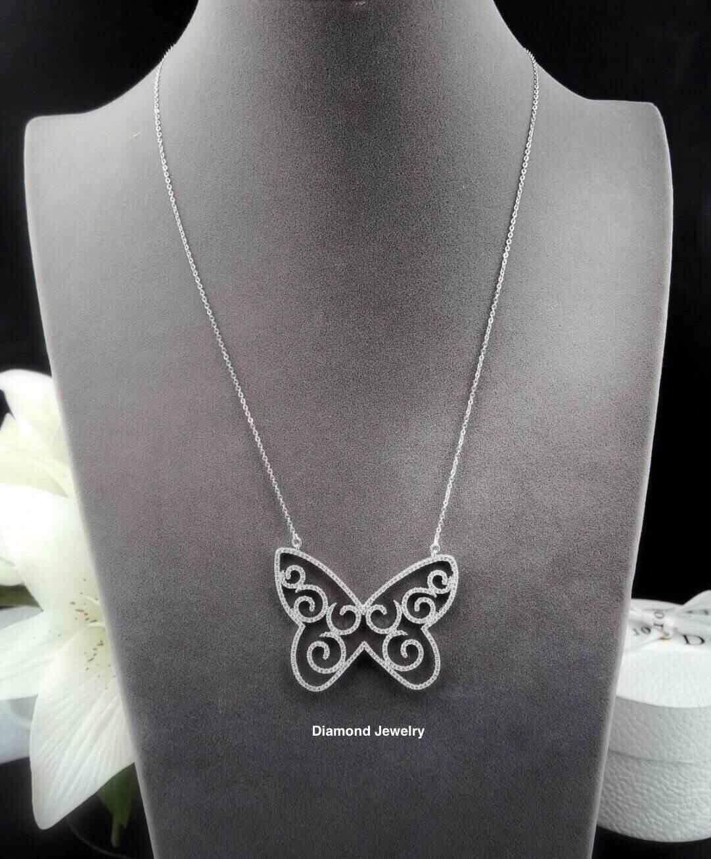 พร้อมส่ง Butterfly Diamond Necklace สร้อยผีเสื้อเพชรงานเพชร CZ