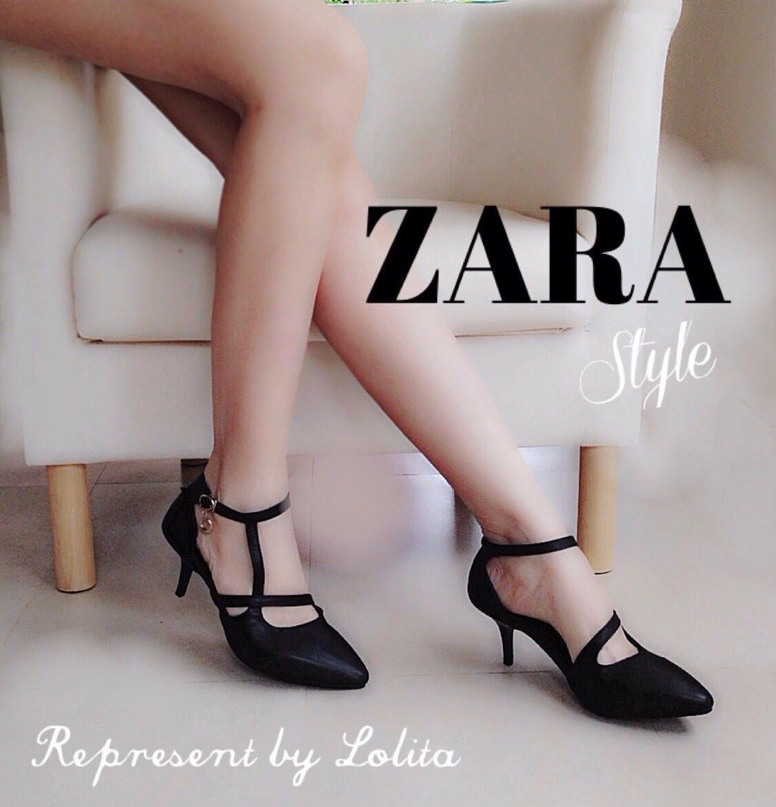 งานเก๋เว่อร์สไตล์ Zara รองเท้าส้นเข็มหัวแหลมสไตล์ซาร่า