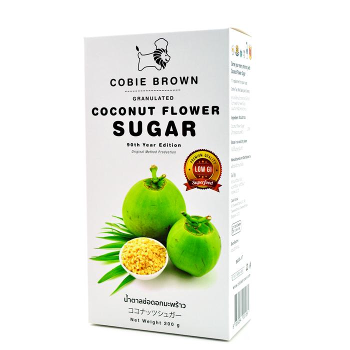 Cobie Brown : น้ำตาลช่อดอกมะพร้าว ออร์แกนิคแท้ 100% แบบกล่อง ขนาด 200 กรัม