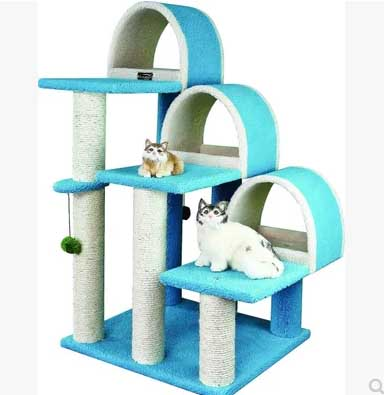 คอนโดแมวขนาดใหญ่ ไล่ระดับ 3 ชั้น สำหรับปีนป่ายออกกำลังกาย ขนาด 110 cm