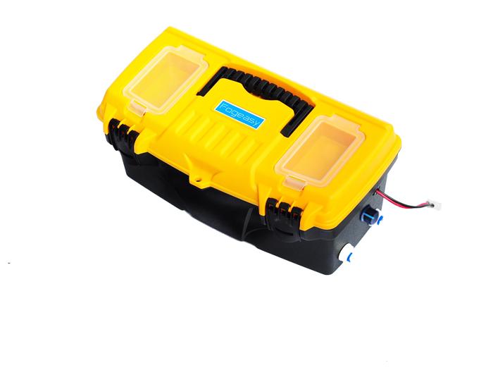 ปั๊ม 24VDC 17 Lpm 2.8 บาร์ ประกอบกล่อง ( รองรับหัวพ่นหมอกเดี่ยวเนต้าฟิล์ม 0.6 mm 40-50 หัวพ่น รองรับหัวพ่นหมอกสี่ทางเนต้าฟิล์ม 10-15 หัวพ่น )
