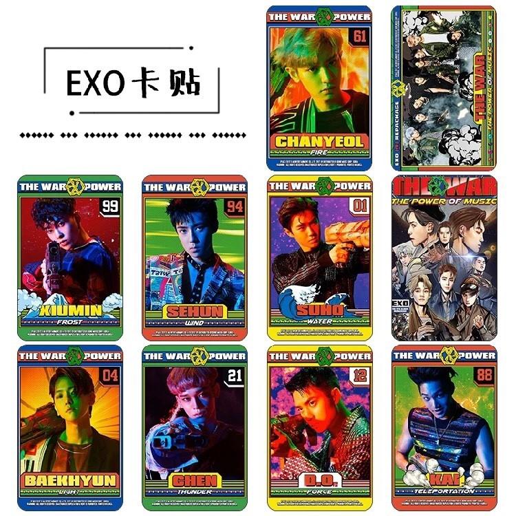 สติ๊กเกอร์การ์ด EXO THE WAR