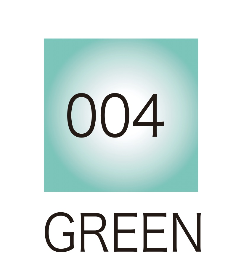 ปากกาสี 2 หัว ZIG CLEAN COLOR No.004 - Green Fluorescent