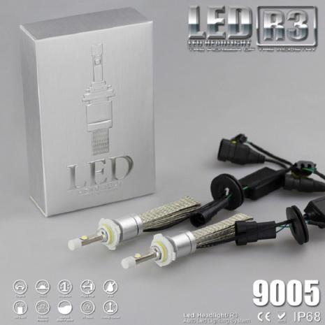 ไฟหน้า LED ขั้ว HB3(9005) Cree 2 ดวง 40W R3 No Fan