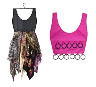 *Spacial Sale 60%* Boho Dress Scarf Organizer ที่จัดเก็บผ้าพันคอ รูปชุดเดรส สีชมพู