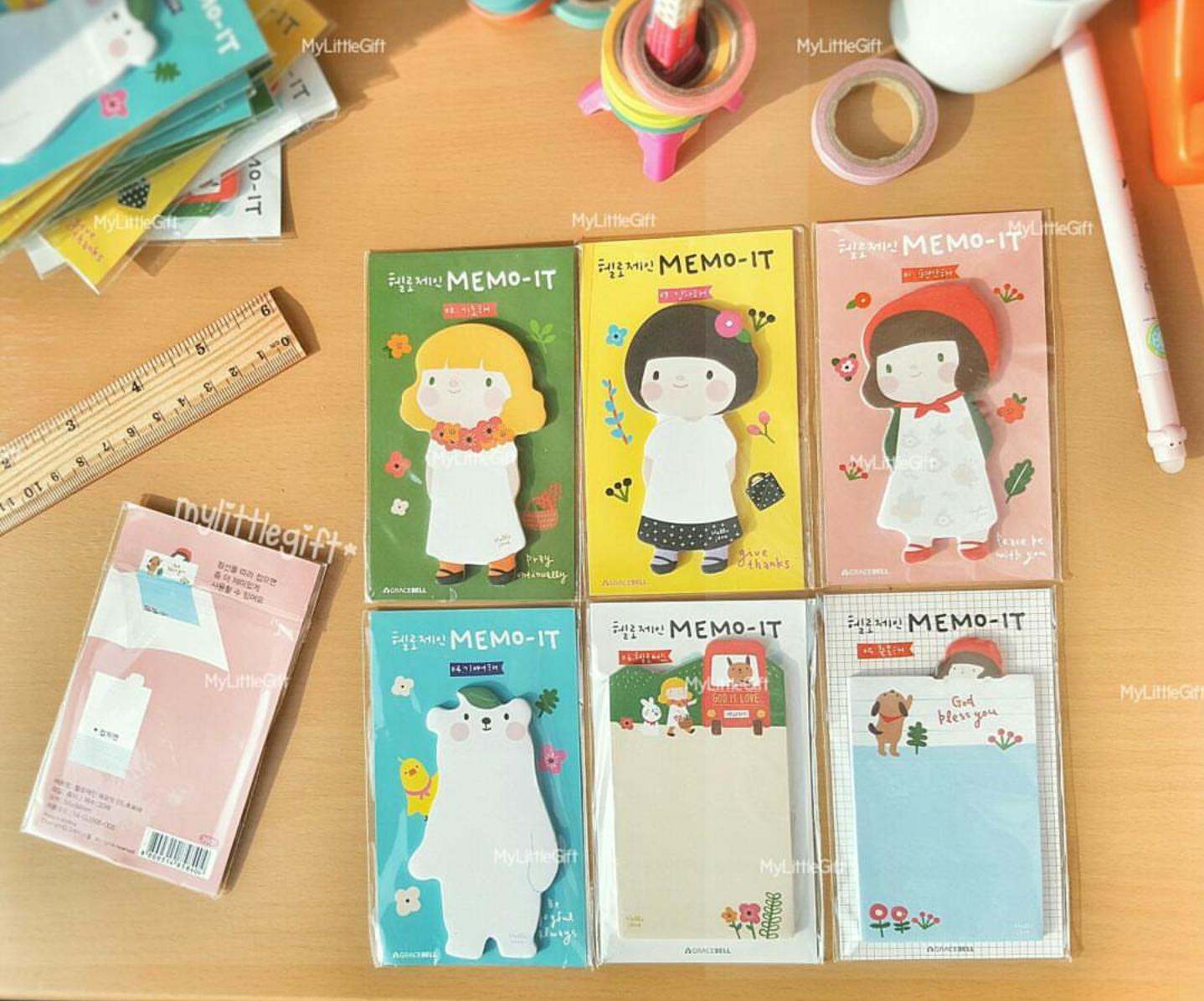 MEMO-IT Sticky Note กระดาษโน๊ตลายตุ๊กตาน่ารักๆ