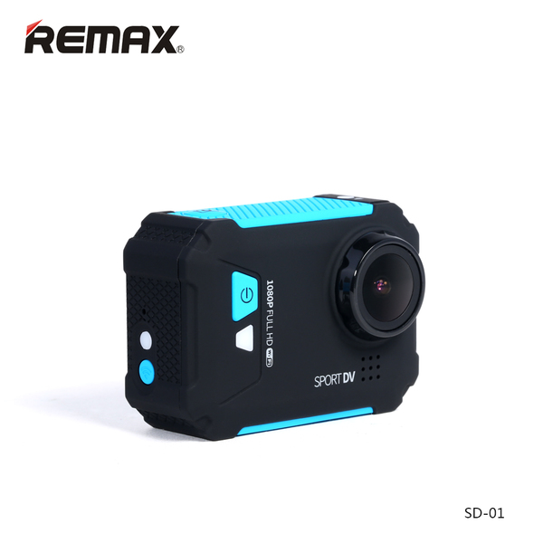 Remax SD-01 Wi-Fi Aciton Camera - Blue สีน้ำเงิน