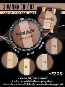 Sivanna Ultra Pro Contour HF205 ซิเวียน่า พาเลทคอนทัวร์ ไบรท์ บรอนเซอร์ ใช้แล้วสุดเลิฟ