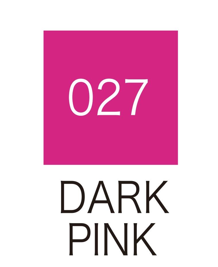 ปากกาสี 2 หัว ZIG CLEAN COLOR No.027 - Dark Pink