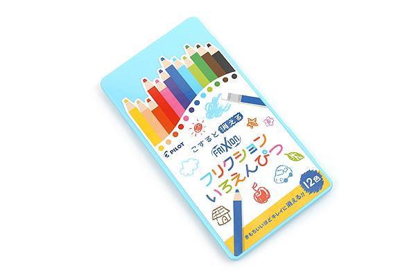 PILOT FRIXION ดินสอสีลบได้ 12 สี - กล่องฟ้า