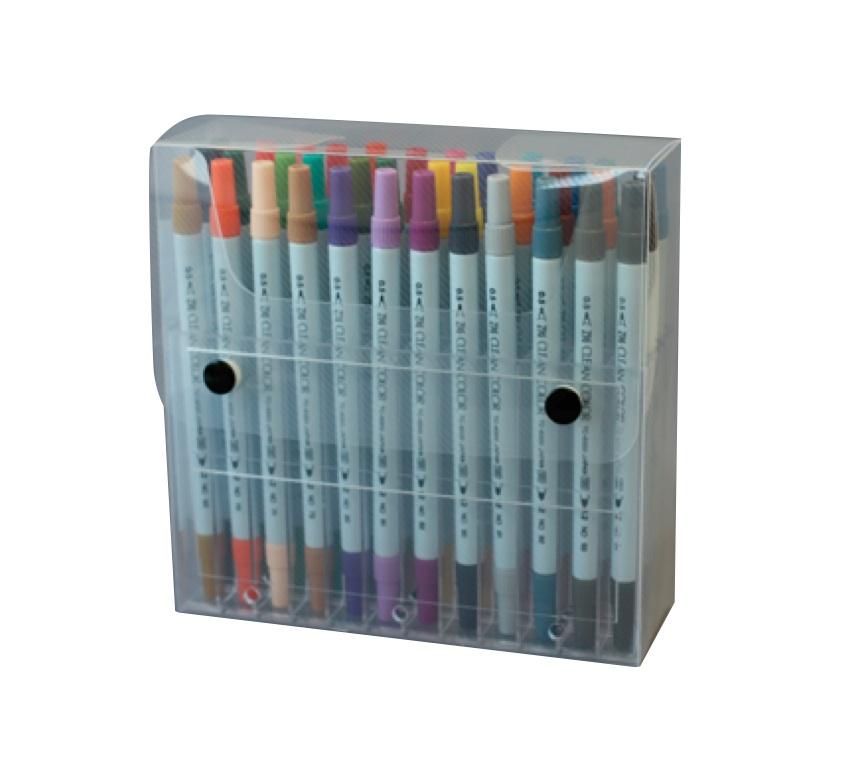ปากกาสี 2 หัว ZIG CLEAN COLOR Set 36 Colors
