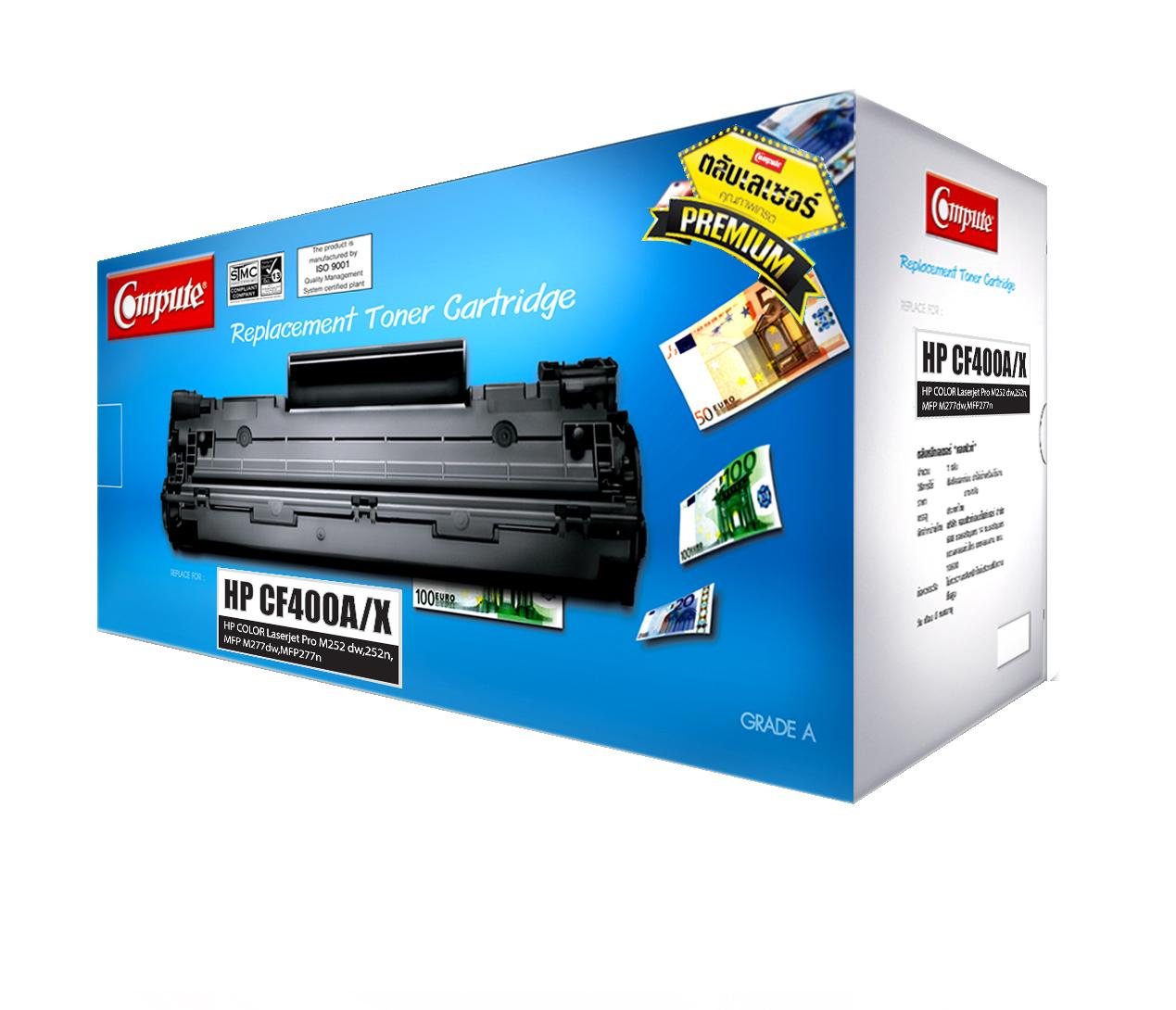 ตลับหมึกเลเซอร์ HP 201A/ 201X, CF400A/ CF400X (Black) Compute (Toner Cartridge)
