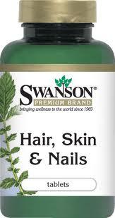 Swanson Hair Skin Nails 60 เม็ด (USA) อุดมด้วยวิตามินและสารสกัดจากธรรมชาติ เพื่อเส้นผม และผิวพรรณ