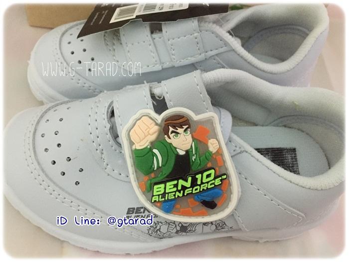 Gerry Gang BT5716 - รองเท้าพละขาวชาย Ben 10 มีไฟ No.25-34