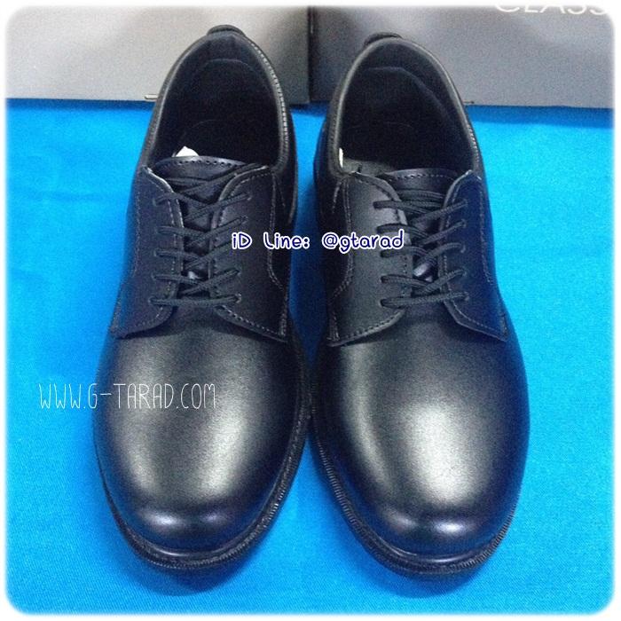 Sainte 16706 - รองเท้าหนังดำชาย ผูกเชือก
