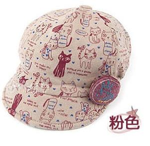 หมวกลายแมว น้ำตาล