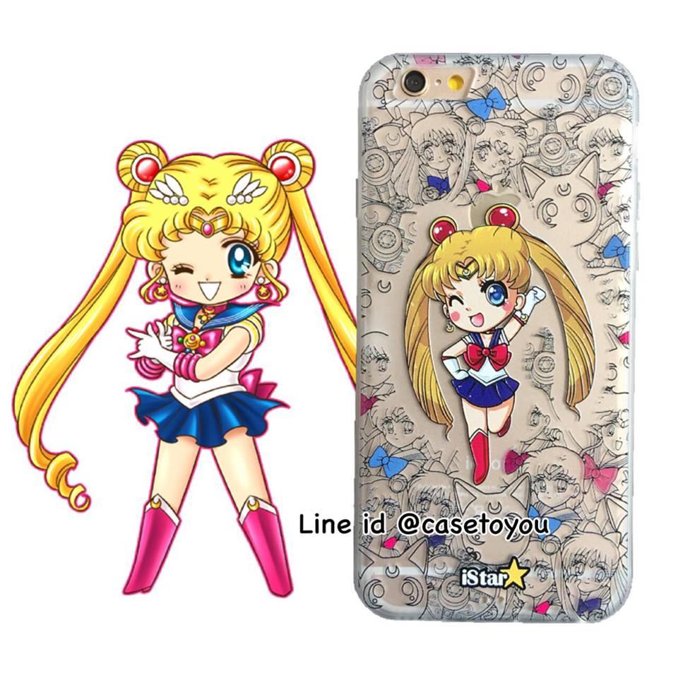 เคสใส สกรีนลายเส้นนูน Sailormoon iPhone 6 Plus/ 6S Plus