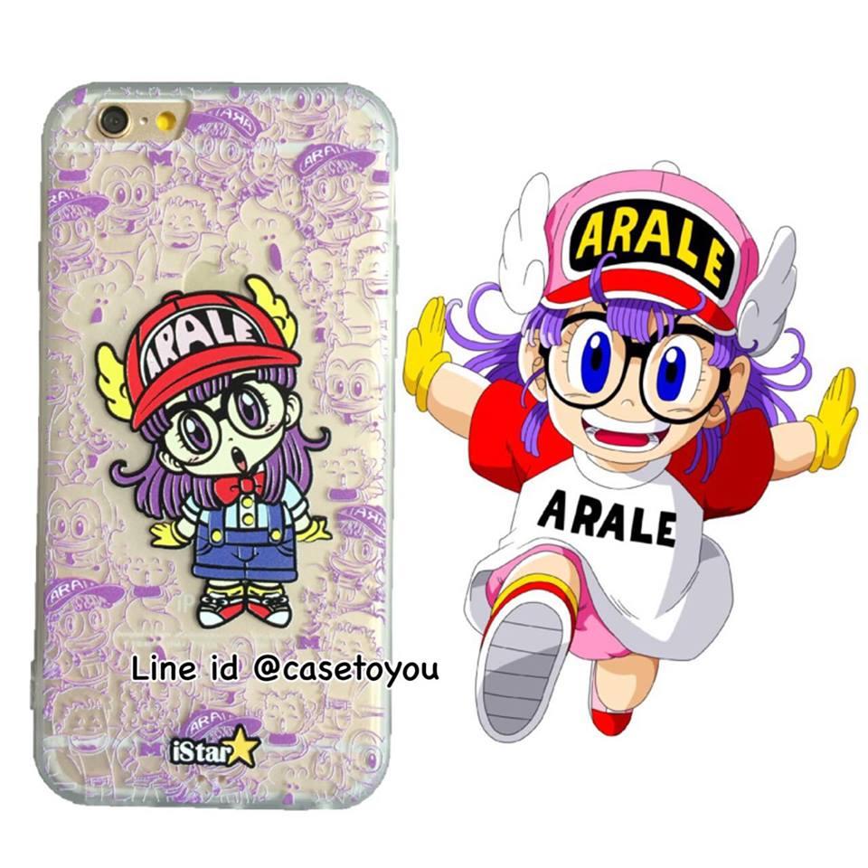 เคสใส สกรีนลายเส้นนูน Arale iPhone 6 Plus/ 6S Plus