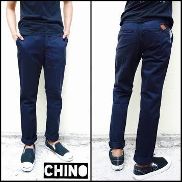 กางเกงขายาว(CHINO) ผ้าฟอก สีกรมท่า