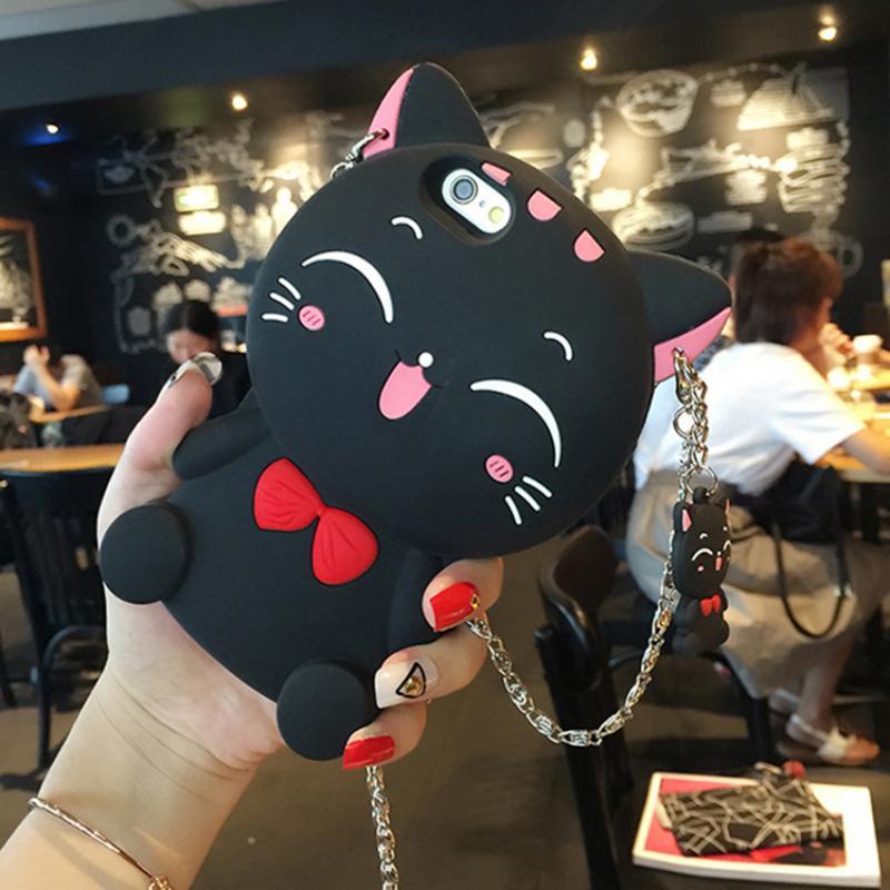 เคสแมวเรียกโชคลาภ (สีดำ) iPhone 5C